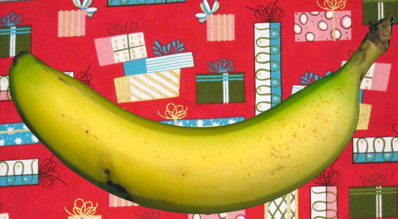 wrapping paper banana